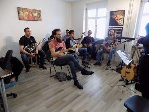 Gruppe gitarre e-gitarre lektion